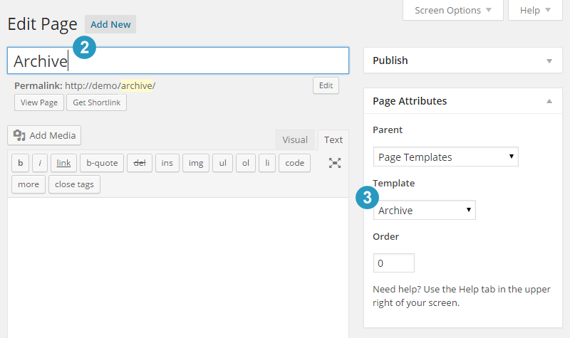 Create Archive page in Genesis Theme