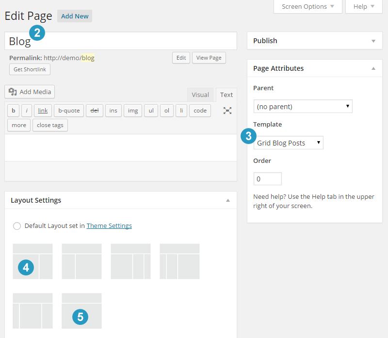Create blog page genesis 2 or 3 columns