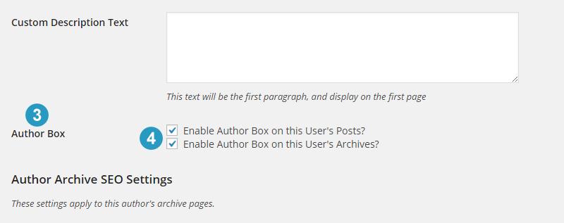 Enable author box