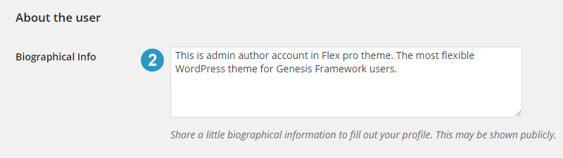 Author box description text