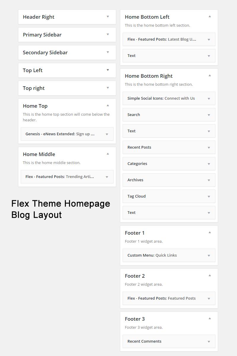 Flex Blog Layout Widgets