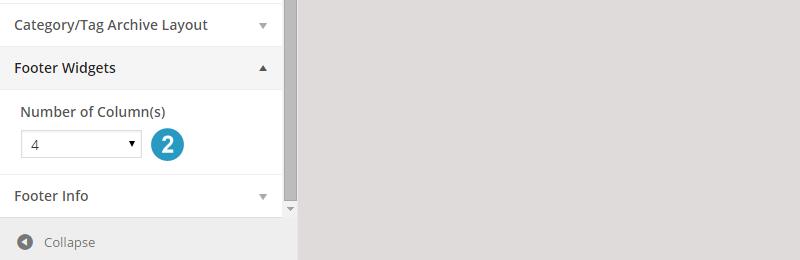 Change number of footer widgets in flex theme