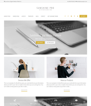 Sunshine Pro Genesis Theme Business Layout